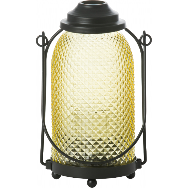 Lampášik  GLASS LANTERN YELLOW